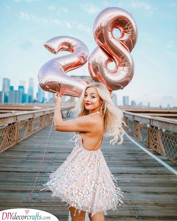 Shiny Balloons - Best Birthday Gifts for Her