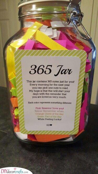 Jar of Notes - The Best Birthday Gifts for Her
