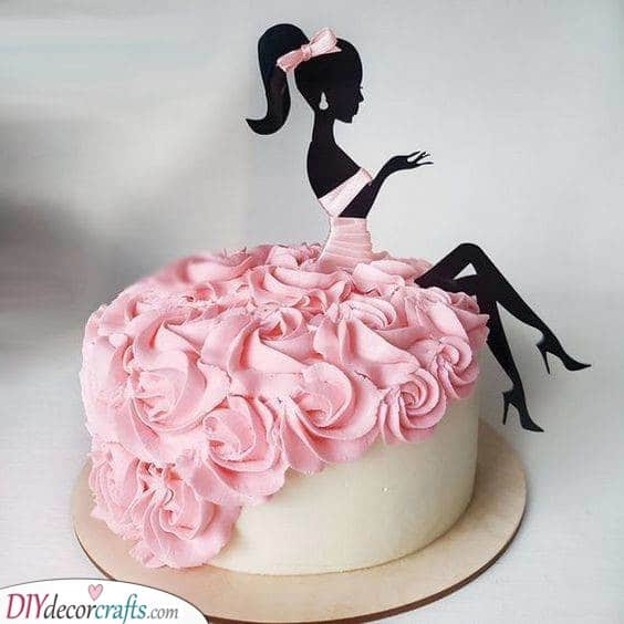 A Special Birthday Cake - Pretty in Pink