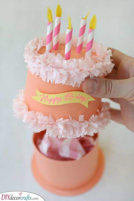 Paper Birthday Cake Box - Best Birthday Gifts for Her