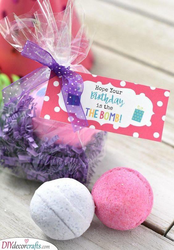 Brilliant Bath Bombs - Birthday Gift Ideas for Women