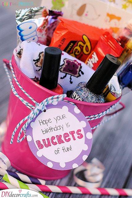 A Birthday Bucket - An Array of Gifts
