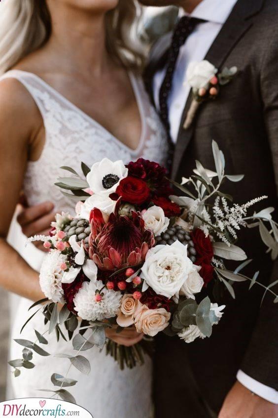 A Wintery Wonder - Bridal Flower Bouquets