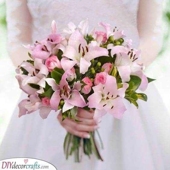 Perfect Pink Lilies - Great Wedding Bouquet Ideas