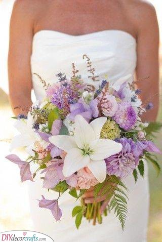 Magical Lilac and Purple - Fantastic Wedding Bouquets