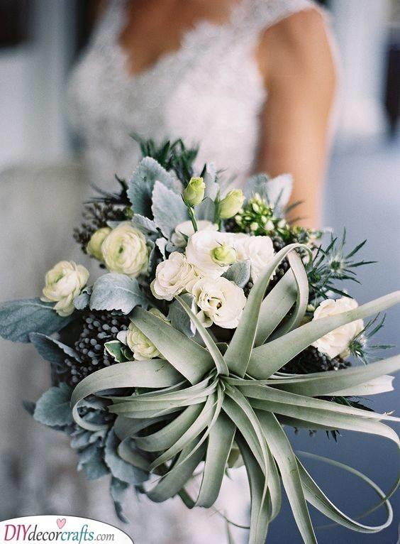 Succulents and Shrubbery - Unique Wedding Bouquet Ideas