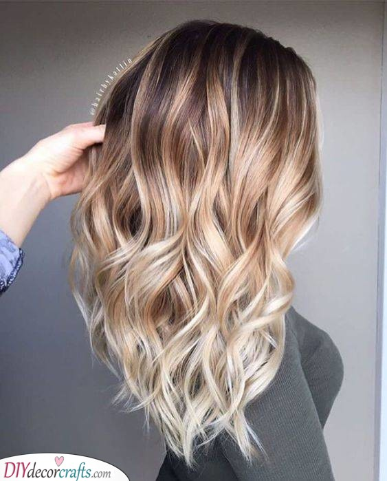 Brown to Blonde - Long Hairstyles for Women