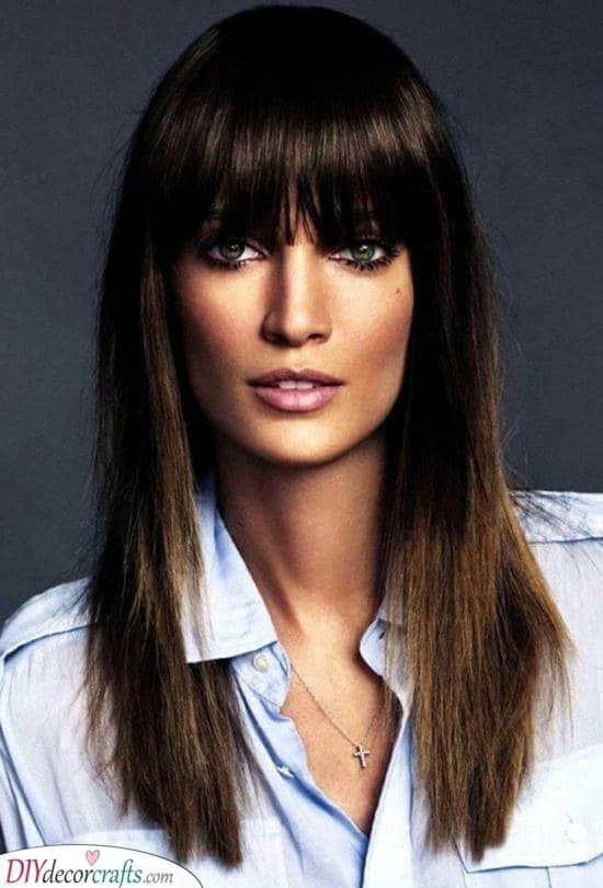 Straight and Sleek - Hairstyles for Long Straight Hair