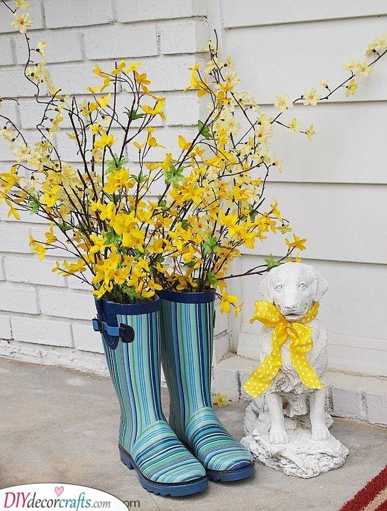 Floral Gumboots - Spring Outdoor Decorations