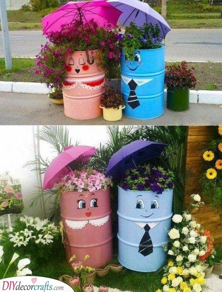 Containers for Flowers - Spring Outdoor Decorations