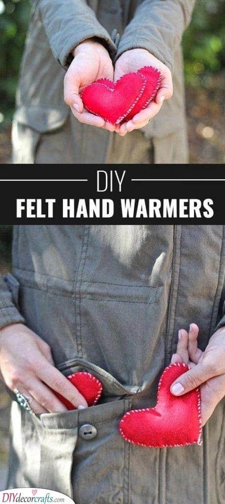 DIY Felt Handwarmers - Cute Gifts for Her