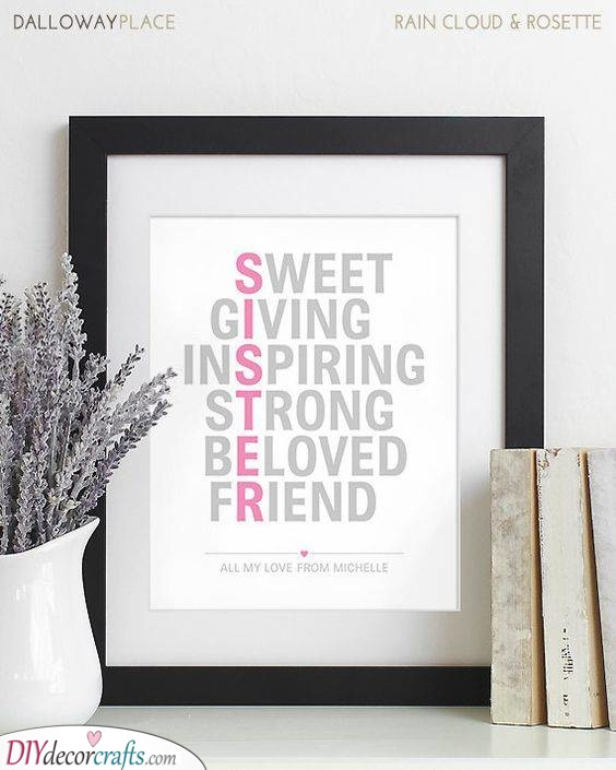 Spell Her Out - Unique Gifts for Sisters
