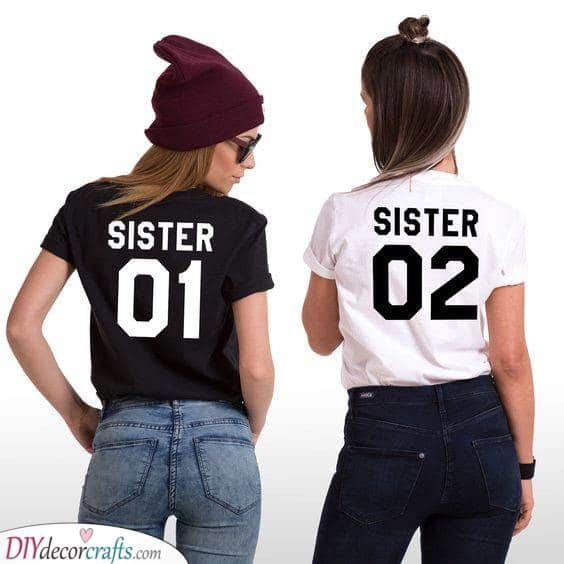 Matching T-Shirts - Sister One and Sister Two