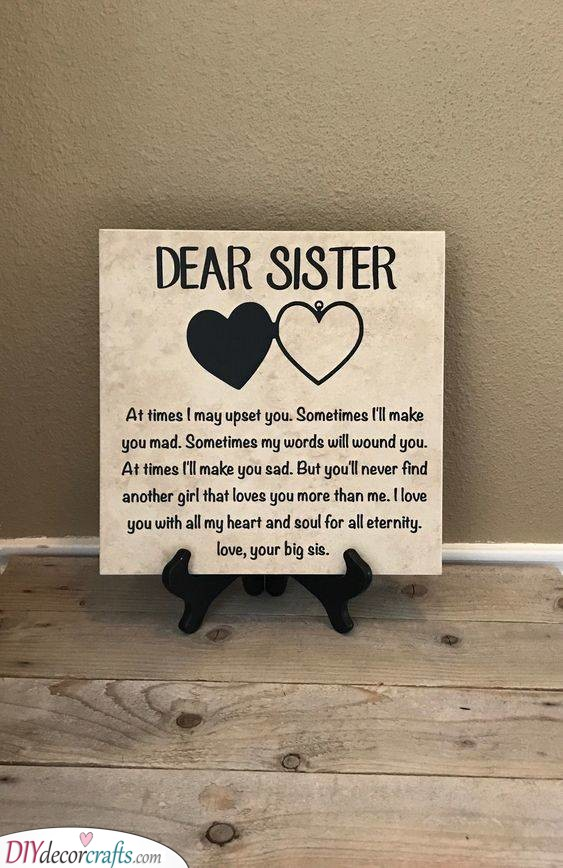 A Loving Message - For Your Dear Sister