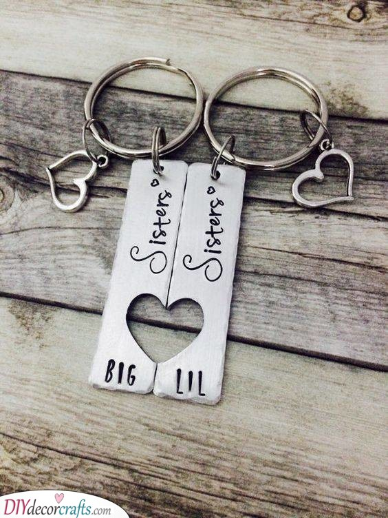 Matching Keychains - Unique Gifts for Sisters