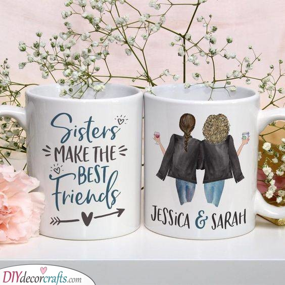 Matching Mugs - Unique Gifts for Sisters