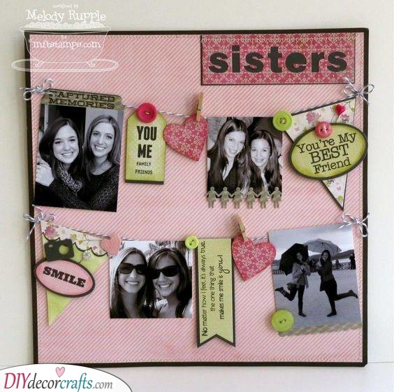 Scrapbook Page - Gifts for Sisters