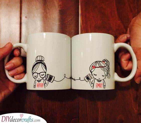 Matching Mugs - Adorable Best Friend Gift Ideas