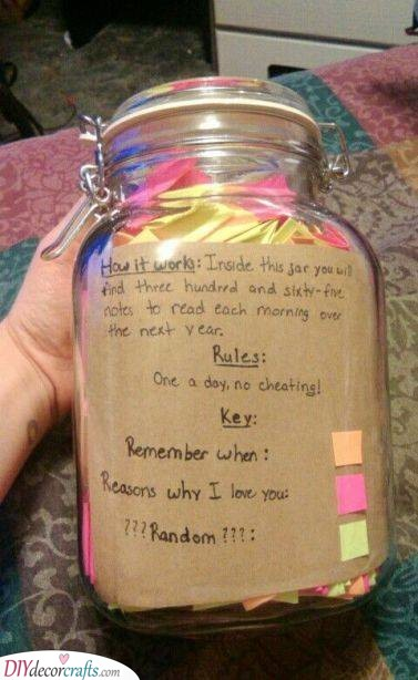 A Jar of Notes - Lovely and Personal