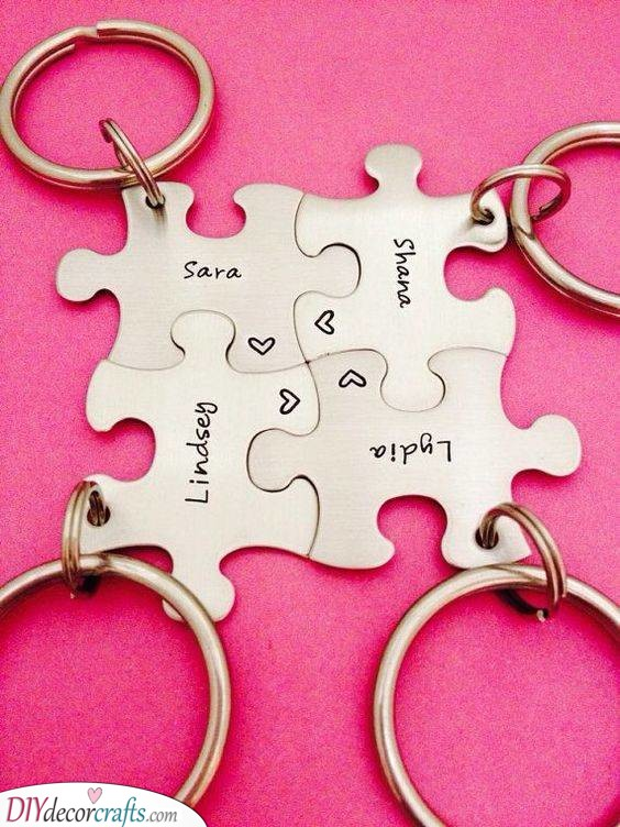 A Jigsaw of Keychains - Matching Gifts