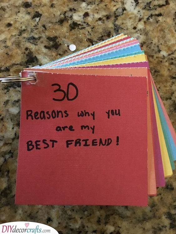 A List of Reasons - Personal Presents for Your Best Friend