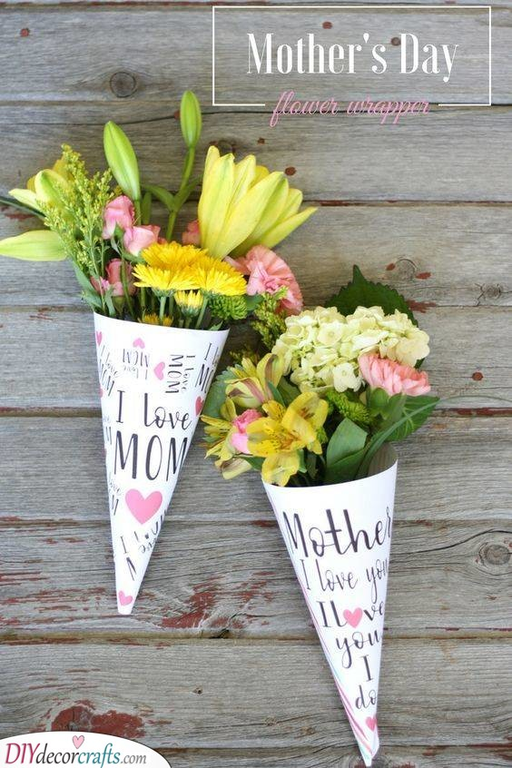 A Bouquet of Flowers - In Mother's Day Wrappers