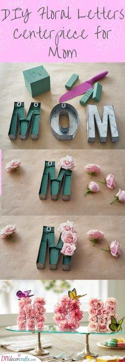 DIY Floral Letters - Gorgeous Gift Ideas