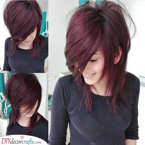 Emo Haircut - With Some Purple