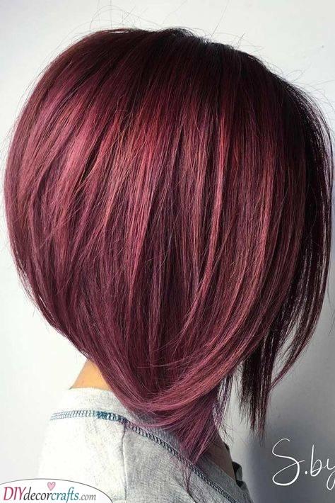 An Angled Bob - Medium Length Hairstyles for Women