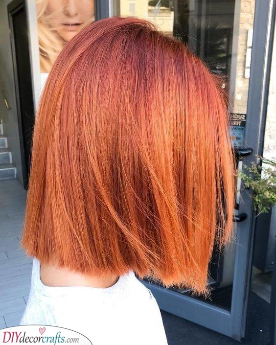 Cool Ginger - Fabulous Medium Length Hairstyles for Women