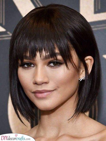 Chin Length Bob - A Quirky Look
