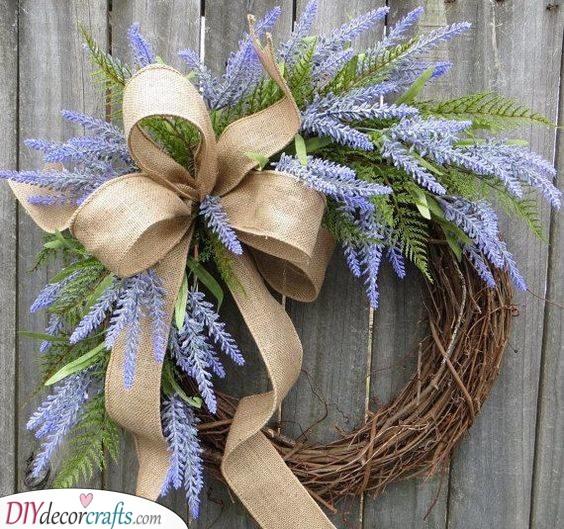 Lavender Wreath - A Rustic Look