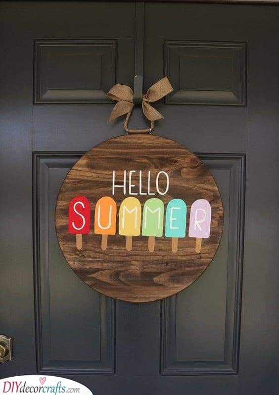 A Colourful Hello - Popsicle Welcome Sign
