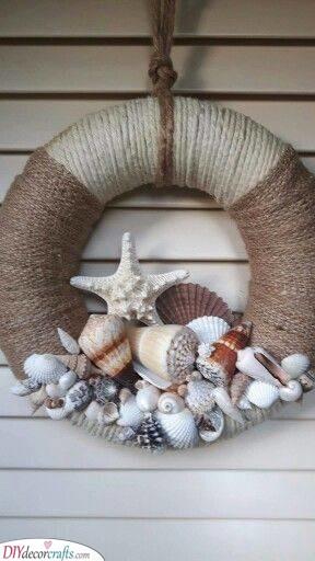 An Array of Seashells - Summer Wreaths for Front Doors