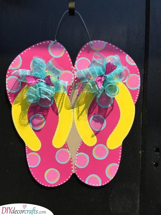 Flip-Flops - Adorable Door Decor for Summer