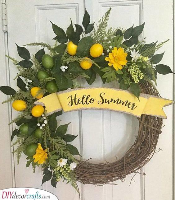 Citrus Inspired - Great Summer Wreaths for Front Doors