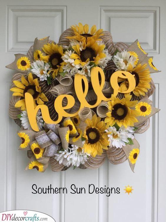 Hello Summer - And Hello Sunflowers