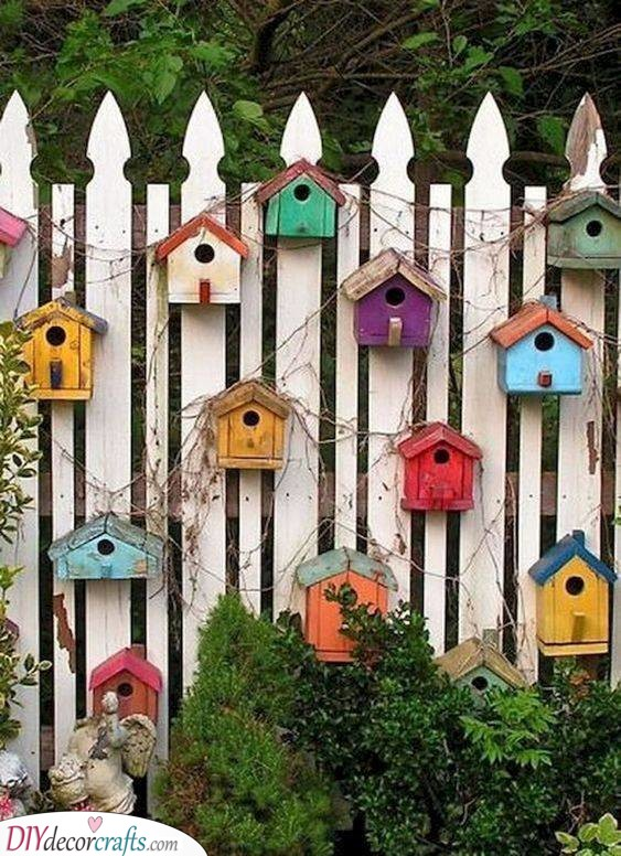 An Array of Birdhouses - Summer Decoration Ideas