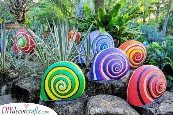 Snail Shells - Unique Garden Decoration Ideas for Summer
