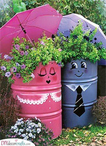 Flower Containers - Summer Outdoor Decorations