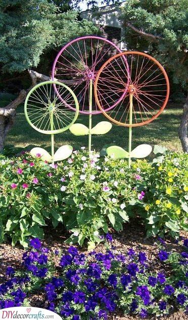 Bicycle Flowers - Outdoor Garden Decor
