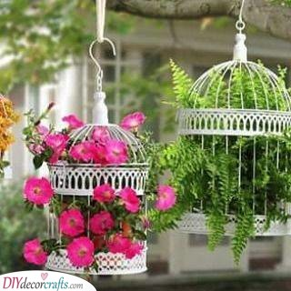 Floral Birdcages - Garden Decoration Ideas for Summer