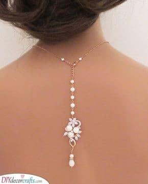 Floral Backdrop Necklace - Wedding Bridal Jewellery