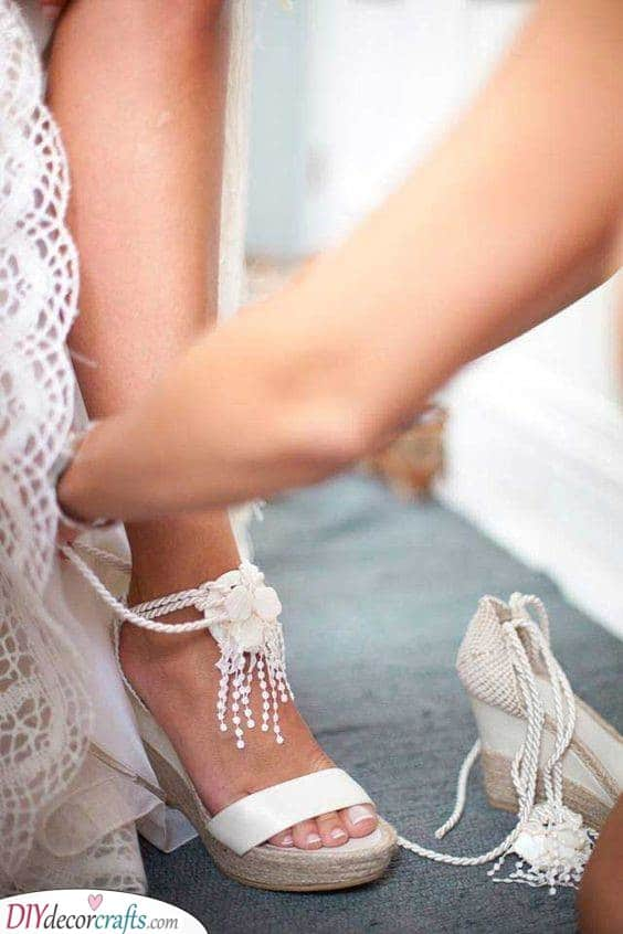 Flowers and Beads - Heels for Your Wedding