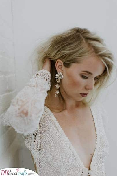Long Floral Drop Earrings - The Best Ideas for Your Wedding