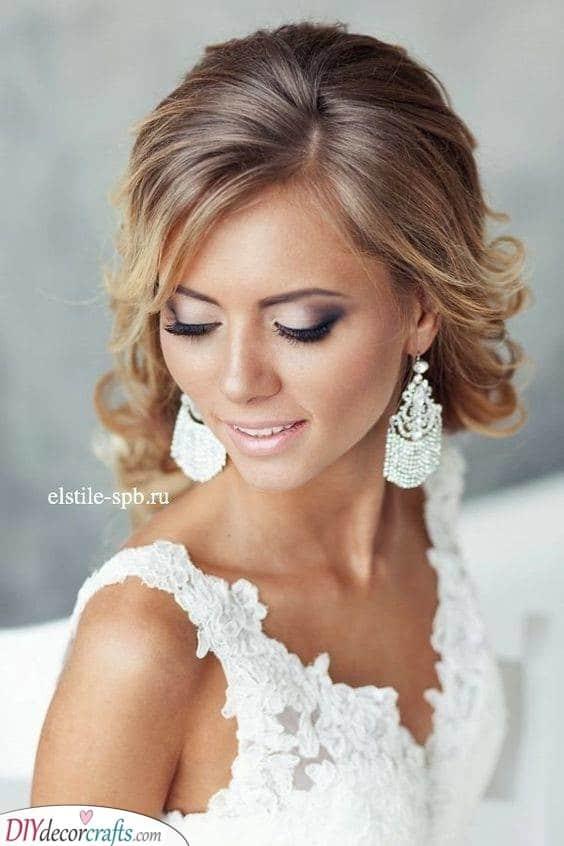 Sparkling Chandelier Earrings - Wedding Bridal Jewellery