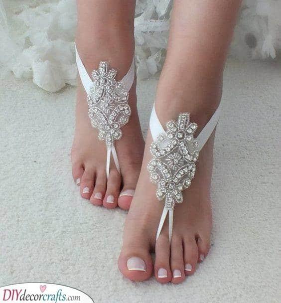 Bridal Anklets - Barefoot Sandals