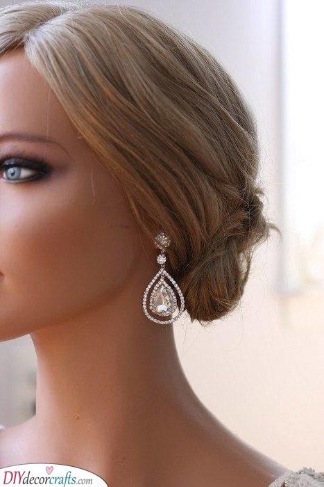 Big Teardrop Earrings - Elegant Wedding Bridal Jewellery