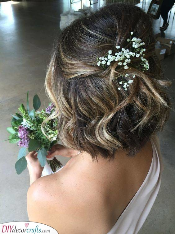 Simple and Stylish - Medium Length Wedding Hairstyles