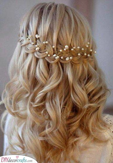 Another Waterfall Braid - With a Hair Vine
